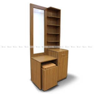 multiple shelf dressing table