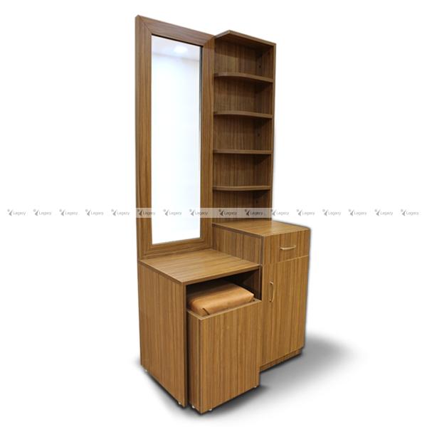 multiple shelf dressing table