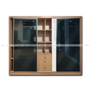 Slide glass door wardrobe