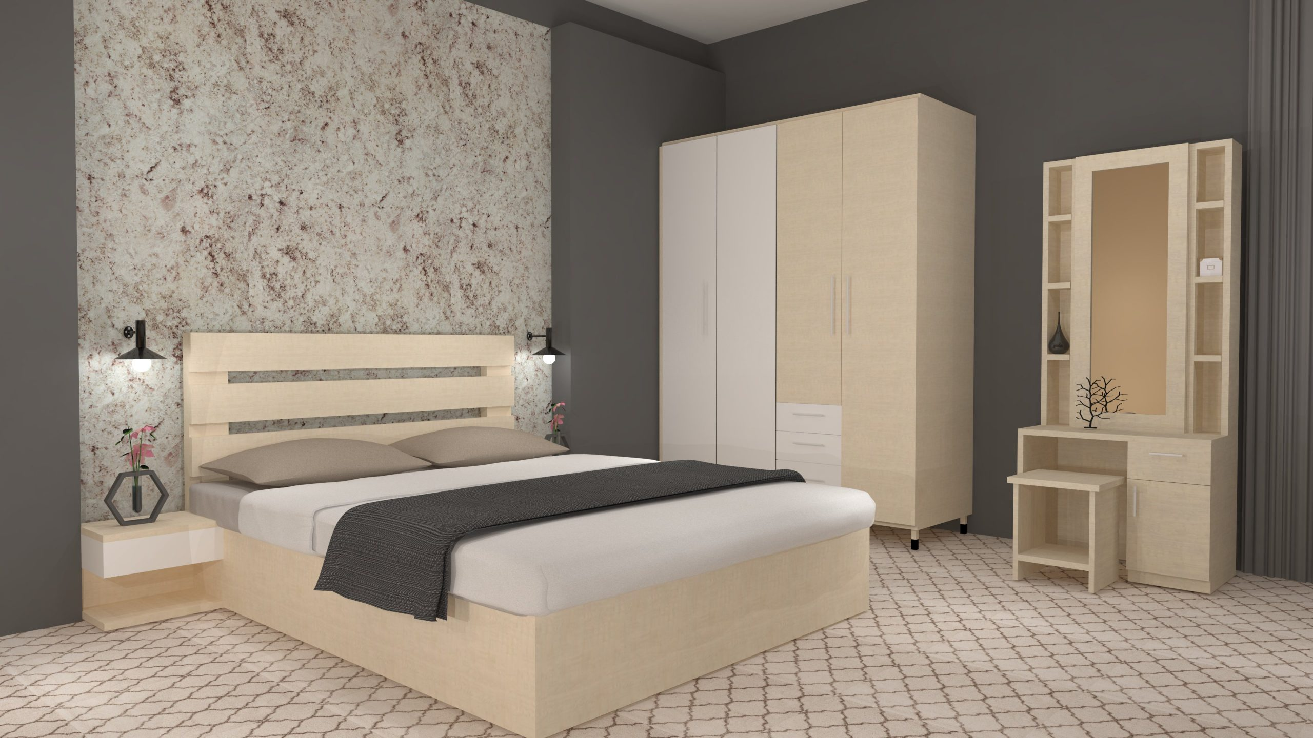 champagne bed set